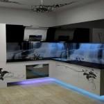 crédence en verre trempe avec impression numérique