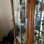 verre bombe pour une porte de meuble